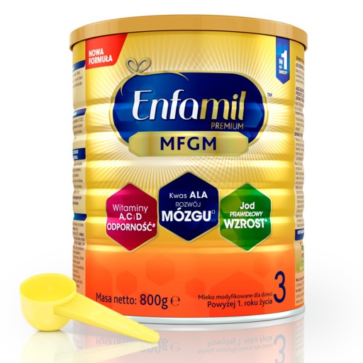 NOWOŚĆ: Enfamil Premium 3 800 g MFGM