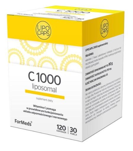 ForMeds LIPOSOMALNA Witamina C 1000 LIPOCAPS 120k