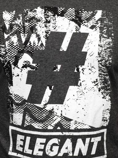 T-SHIRT Z NADRUKIEM ANTRACYTOWY 14456 DENLEY_2XL 10564766384 Odzież Męska T-shirty GH TSVRGH-3