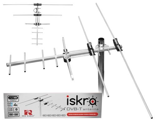 ANTENA DVB-T DVB-T2 FULL HD ISKRA VHF UHF MUX8 HIT