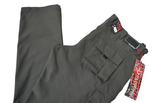 DUŻE DŁUGIE BojÓwki CLUBING pas 124-126cm W49 L36 9926210377 Odzież Męska Spodnie PI BQRIPI-9
