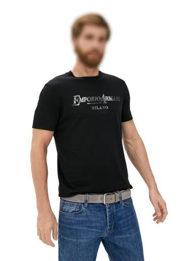 EMPORIO ARMANI luksusowy męski t-shirt MILANO 2021 9799648470 Odzież Męska T-shirty AU BNUMAU-6
