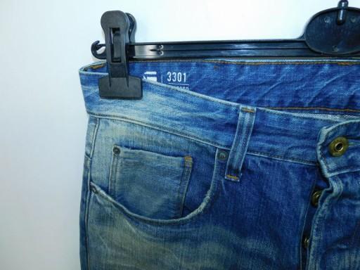 G-Star Raw 3301 Tapered spodnie W30L34 rurki 10732743474 Odzież Męska Jeansy NO UKFVNO-6