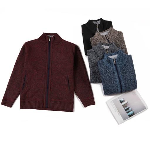 esień i zima gruby sweter kardigan Dzianina męska 9814296780 Odzież Męska Swetry JW SPKVJW-1