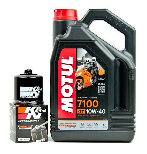 OIL ENGINE MOTUL 7100 10W40 4L +OIL FILTER KN