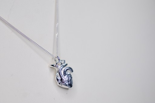 Srebrny Naszyjnik Ludzkie Serce 3d Prezent 9119635356 Allegro Pl