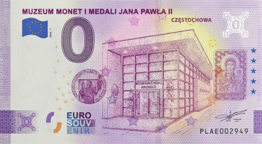 0 Euro Czestochowa Muzeum Jp Ii Polska 2020 9819444346 Allegro Pl
