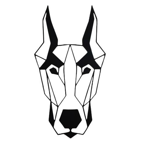 Płaskorzeźba obrazek 3D psa Dobermann   DRUK 3D