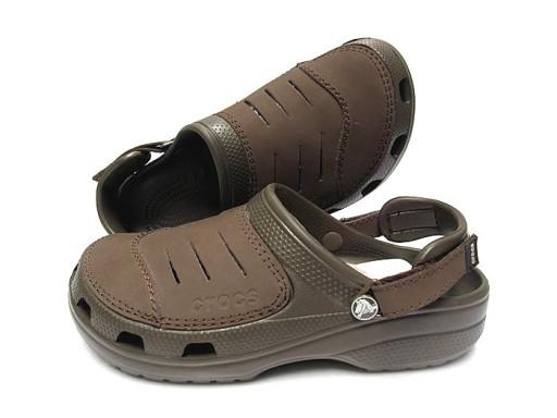 Crocs Yukon Klapki sandały buty dziury brązowy 10710535512 Obuwie Męskie Męskie MB TFSVMB-9