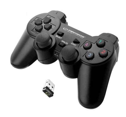 BEZPRZEWODOWY PAD PS3 PC WIBRACJA USB ANALOG FIFA