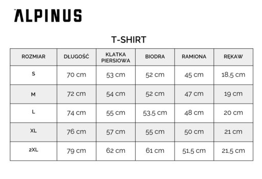 T-SHIRT KOSZULKA MĘSKA SPORTOWA LOGO ALPINUS L 9931928425 Odzież Męska T-shirty HR MEGKHR-6