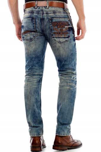 Cipo Baxx Jeansy Spodnie Męskie Jeansowe Wyszywane 10532462690 Odzież Męska Jeansy UA GCZUUA-8