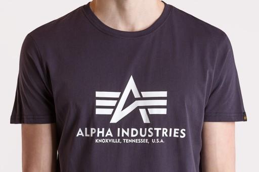ALPHA INDUSTRIES BASIC 100501466 KOSZULKA MĘSKA 9704788666 Odzież Męska T-shirty QX RMXKQX-2