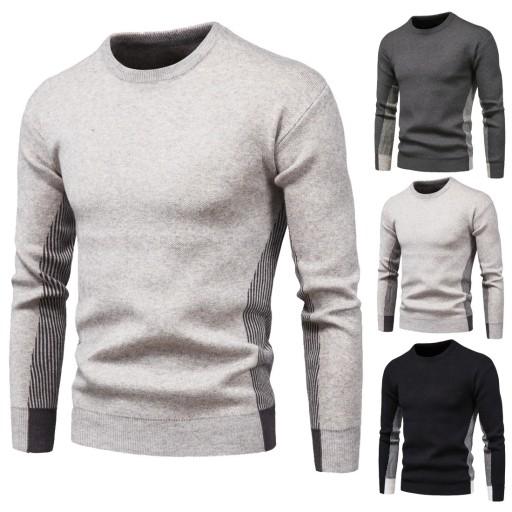 Sweter męski z dzianiny 10709698852 Odzież Męska Swetry HJ EPCBHJ-2