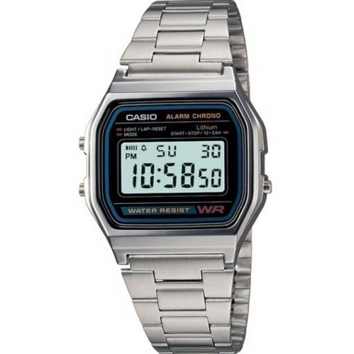 Zegarek CASIO A158WA-1DF stoper alarm