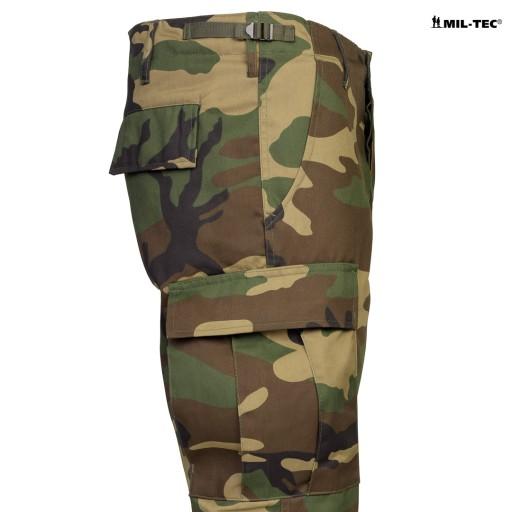 SPODNIE BDU BojÓwki Proste Nogawki MT WOODLAND S 10752229588 Odzież Męska Spodnie WY KMIPWY-9