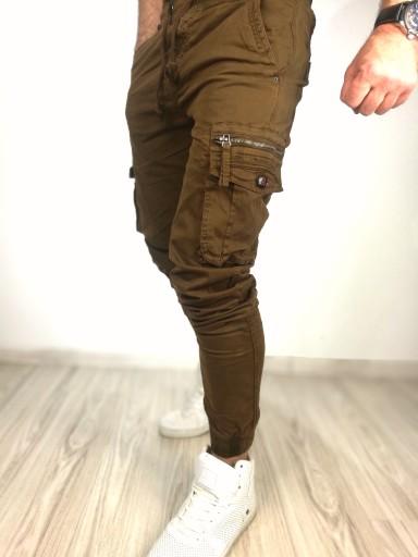 Spodnie męskie joggery carmel bojÓwki ściągacz 33 9939366952 Odzież Męska Spodnie PB IHGVPB-6