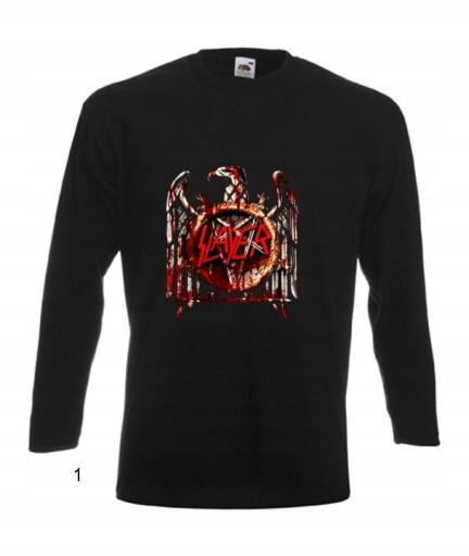 BLUZKA MĘSKA Slayer thrash metal WZORY 9657267331 Odzież Męska Koszulki z długim rękawem FJ OEAQFJ-8