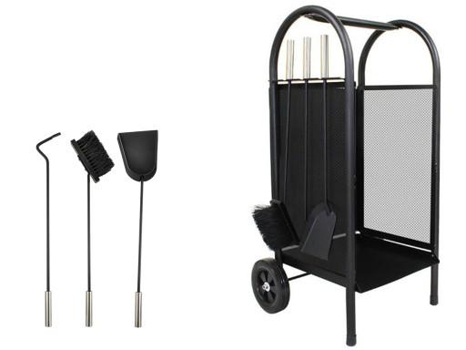 Wózek Na Drewno Kominkowe do Kominka Przybory