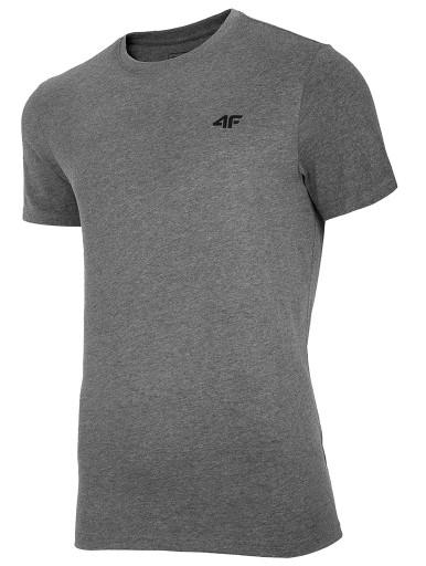 Koszulka męska 4F średni szary melanż NOSH4 TSM003 10584034885 Odzież Męska T-shirty XF CFYGXF-8