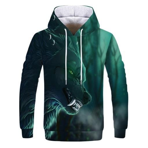 Sweter męski Zielony męski sweter z nadrukiem cyfr 9626441733 Odzież Męska Swetry AT QDASAT-1