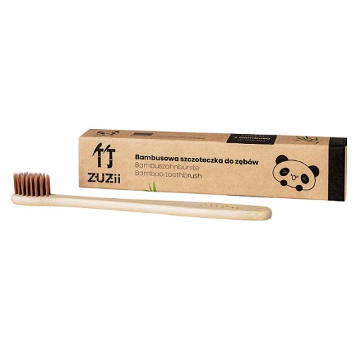 Bambusowa szczoteczka do zębów dla dzieci - brąz