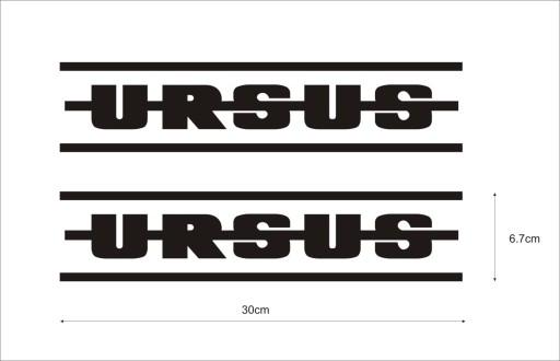 URSUS TRANSFERS x 2 PCS. 30cm
