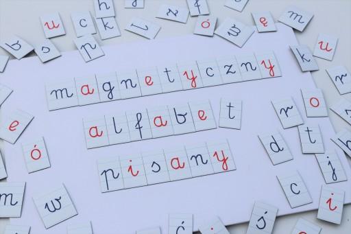 АЛФАВИТ Монтессори, МАГНИТНЫЕ Буквы, написанные,