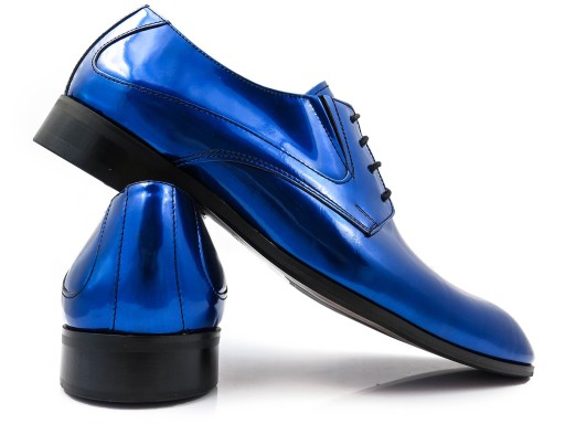 Niebieskie Lakierki Meskie Buty Slubne T111 R 40 9680140949 Allegro Pl