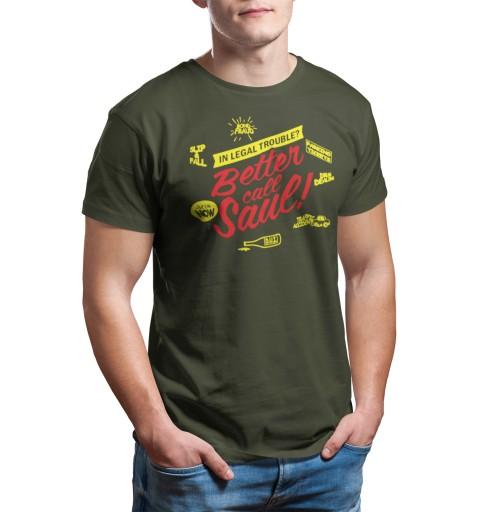 koszulka BETTER CALL SAUL serial KOLORY FA 14 XXL 9229056793 Odzież Męska T-shirty UG NJFGUG-7