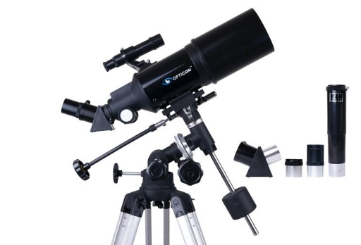 Teleskop OPTICON - StarRider 80F400EQ + akcesoria