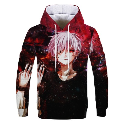 kapturem Digital Tokyo Zombie Print Sweter męski 10658443842 Odzież Męska Swetry OC QVTSOC-7
