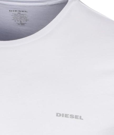 T-SHIRT KOSZULKA MĘSKA DIESEL BIAŁA - XXL 10522423036 Odzież Męska T-shirty DT XXGZDT-7