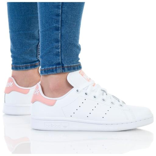 białe materialowe buty adidas damskie