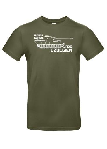Koszulka Nie mam czasu jadę czołgiem!, roz. S 10420878891 Odzież Męska T-shirty BF HNKCBF-7