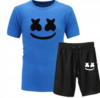 Męski Letni Komplet Marshmello Spodenki + T-shirt 10686789325 Odzież Męska Komplety RL VXULRL-7