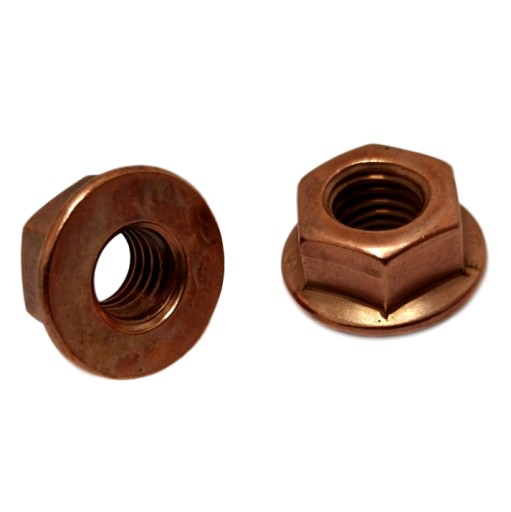 NUT COPPER M8 z COLLAR 10 PCS