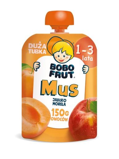BOBO FRUT mus w tubce jabłko morela 150g