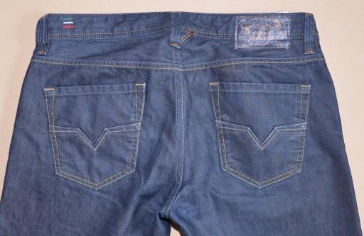 DIESEL LARKEE granatowe spodnie dżinsy rozmiar L 10603916638 Odzież Męska Jeansy WE VJKHWE-5