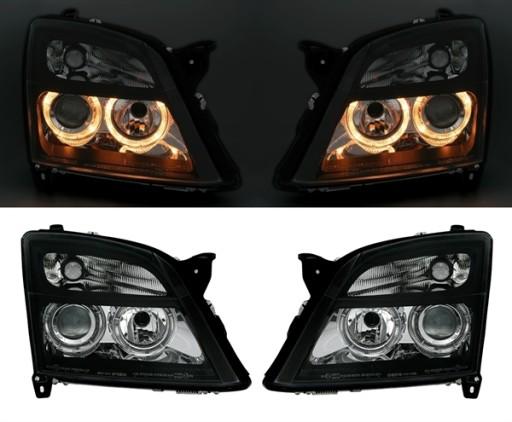 Lampy Opel Vectra C 02 04r Angel Eyes Ringi Black Knurow Allegro Pl