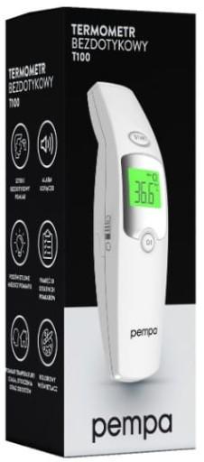 Termometr bezdotykowy PEMPA T100 zestaw+gratis