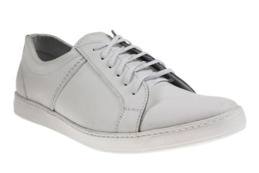 Calzadi Białe buty sportowe skÓra 42 (24h) 10116026766 Obuwie Męskie Męskie DW TXPPDW-6