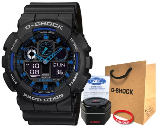 Zegarek Casio G-SHOCK GA-100-1A2ER 20BAR hologram