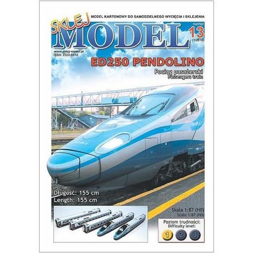 Sklej Model 13 - Pociąg pasażerski ED250 Pendolino