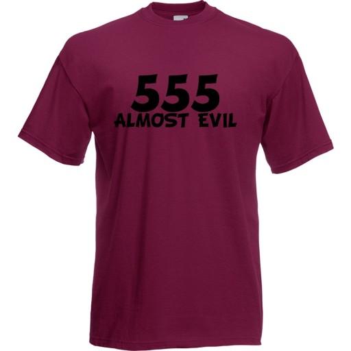 Koszulka śmieszna 555 evil diabeł prezent XXL 9704051705 Odzież Męska T-shirty KI GZYCKI-7