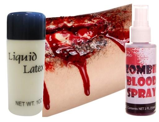 Zestaw Latex W Plynie Krew Spray Do Sztucznych Ran 9856310445 Allegro Pl