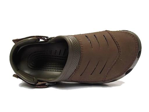 Crocs Yukon Klapki sandały buty dziury brązowy 10710207715 Obuwie Męskie Męskie LY UPHZLY-8