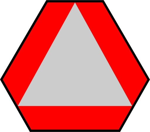 STICKER TRIANGLE WARNING WOLNOBIEZNY 30CM #1