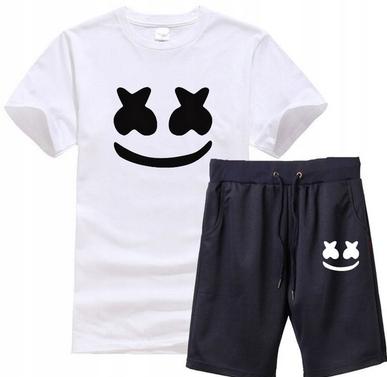 Męski Letni Komplet Marshmello Spodenki + T-shirt 10686789274 Odzież Męska Komplety FU JWRDFU-1