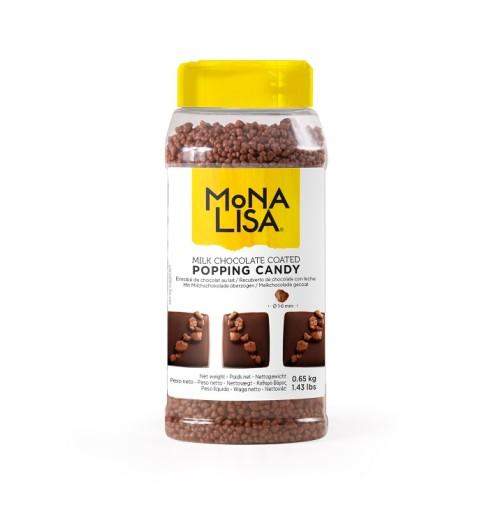 Strzelająca mleczna czekoladowa posypka Mona Lisa